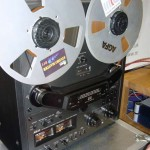 Copyright Adventures in High Fidelity Audio 2011 'Close up of the big Akai reel to reel'